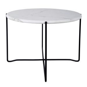 Azzate Coffee Table White Marble Finish