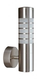 Pompei Wall Lamp 1 Light E27 IP44 Exterior Stainless Steel/Synthetic