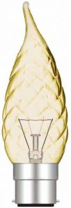 Candle Tip Twisted Gold B22 25W (100/10)