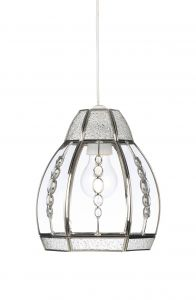 Endon 1214-CLEAR Non Electric Pendant 1 Light In Chrome