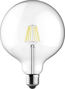 Classic LED Globe D125 E27 6.5W 2700K Warm White 806lm Dimmable Clear Finish 3yrs Warranty