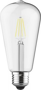 Value Classic LED Rustica Tradition Tip ST64 E27 4W 4000K Natural White Clear Glass, 3yrs Warranty