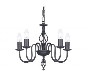 Endon 338-5BL Black 5L Fitting 5 Light In Painted