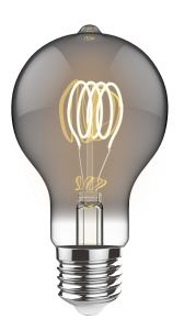 Classic Style LED Candle E27 Dimmable 220-240V 3W 2100K, 120lm, Smoke Finish, 3yrs Warranty