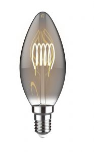 Classic Style LED ST64 E27 Dimmable 220-240V 4W 2100K, 120lm, Smoke Finish, 3yrs Warranty