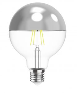 Classic Style LED Black Top G80 E27 Dimmable 220-240V 4W 2700K, 330lm, Black/Clear Finish, 3yrs Warranty