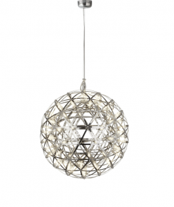 Colbert 1 Light 35W 2623lm Integrated LED Chrome 600mm Adjustable Pendant In A Trianglur Cut Frame 3000K
