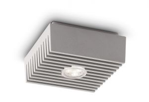 Row Ceiling Lamp, 1 Light Integrated LED, Grey
