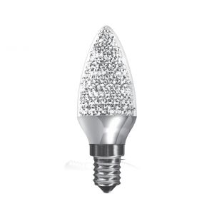 Kaleido LED Candle E14 Dimmable 3.5W Warm White 3000K, 250lm, Chrome Finish, 3yrs Warranty