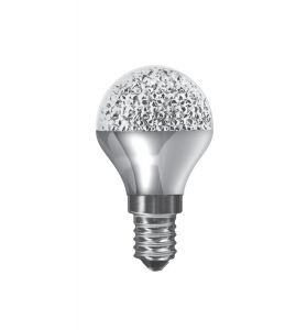 Kaleido LED Ball E14 Dimmable 3.5W Cool White 4000K, 270lm, Chrome Finish, 3yrs Warranty