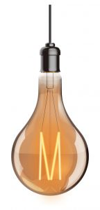 Classic Deco LED GLS A160/M E27 Dimmable 230V 8W Warmwhite 1800K, Gold Finish, 5yrs Warranty