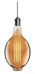 Classic Deco LED BT180/H E27 Dimmable 230V 8W Warmwhite 1800K, Gold Finish, 5yrs Warranty