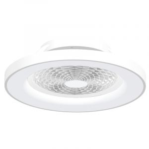 Tibet 70W LED Dimmable Ceiling Light With Built-In 35W DC Fan, c/w Remote Control, APP & Alexa/Google Voice Control, 3000lm, White, 5yrs Warranty