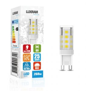 Pixy LED G9 3W 4000K Natural White, 280lm, Clear Finish, 3yrs Warranty