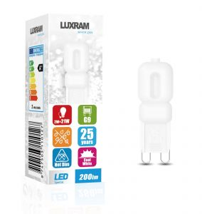 CapsuLED G9 2W 4000K Natural White, 200lm, Frosted Finish 3yrs Warranty