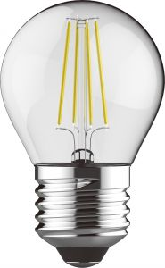 Value Classic LED Ball E27 6.5W Warm White 2700K, 806lm, Clear Finish, 3yrs Warranty