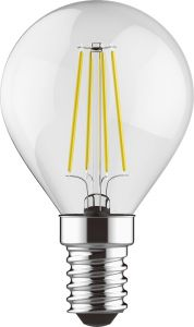 Value Classic LED Ball E14 6.5W Warm White 2700K, 806lm, Clear Finish, 3yrs Warranty