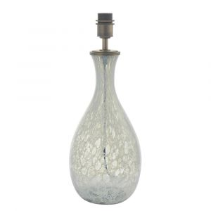Lemm 1 Light E27 Brushed Bronze Table Lamp With Large White & Grey Glass Base With Inline Switch (Base Only)