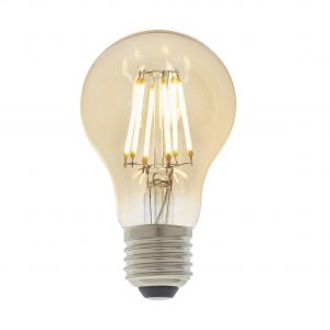 6W E27 Amber Tinted Dimmable LED Filament GLS Bulb, 2700K 550 Lumens