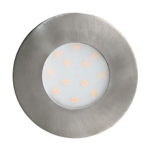 Pineda-Ip 1 Light LED Integrated Outdoor Recessed Downlight Satin Nickel With Plastic White Diffuser