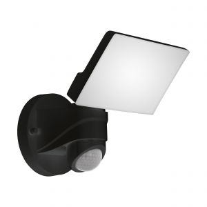Pagino 1 Light LED Integrated Outdoor Ip44 Wall Light Black With Plastic