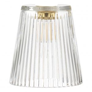 Accessory Clear Ribbed Glass Shade Only