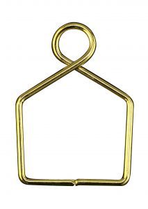 Diyas C90079 Square Claw Link 14X20mm Gold