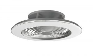 Alisio 70W LED Dimmable Ceiling Light With Built-In 35W DC Reversible Fan, Chrome/Grey Finish c/w Remote Control and APP Control