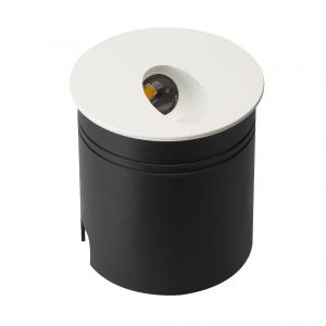 Aspen Wall Lamp Round Angle, 3W LED, 3000K, 88lm, IP65, Sand White, 3yrs Warranty