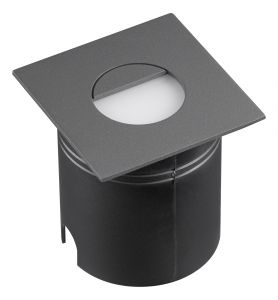 Aspen Wall Lamp Square Eyelid, 3W LED, 3000K, 80lm, IP65, Anthracite, 3yrs Warranty
