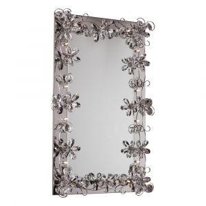 Diyas Home IL70028  (DH) Aviance Illuminated Rectangular Mirror Switched 12 Light Polished Chrome/Crystal
