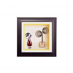 Diyas Home IL70518 (DH) Bambino Girl, Black Frame Red, Clear Crystal