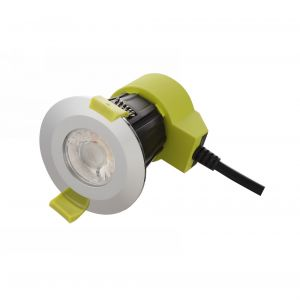 Bazi, 10W, 350mA, Polished Chrome, Dimmable LED Downlight, Cut Out: 70mm, 840lm, 38° Deg, 5000K, IP65, DRIVER INC., 5yrs Warranty