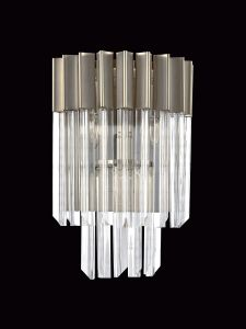 Brewer Wall 3 Light E14, Polished Nickel/Clear Glass