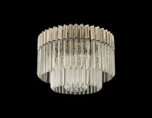Brewer Ceiling Round 7 Light E14, Polished Nickel/Clear Glass,Item Weight: 15.3kg