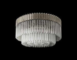 Brewer Ceiling Round 12 Light E14, Polished Nickel/Clear Glass, Item Weight: 28.4kg