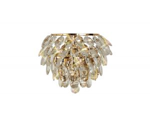 Diyas IL32807 Coniston Wall Lamp, 1 Light E14, French Gold/Crystal