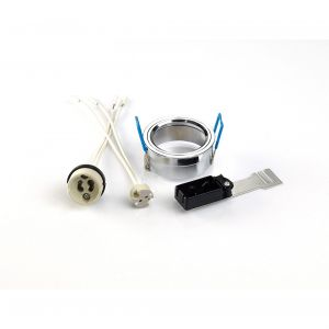 Diyas IL30800CH Downlight Component Kit Lampholders And Retaining Ring Polished Chrome For Various Crystal Rims