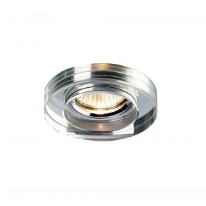 Diyas IL30821CH Crystal Downlight Deep Round Rim Only Clear, IL30800 Required To Complete The Item