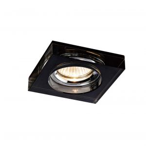 Diyas IL30822BL Crystal Downlight Deep Square Rim Only Black, IL30800 Required To Complete The Item