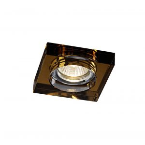 Diyas IL30822BZ Crystal Downlight Deep Square Rim Only Bronze, IL30800 Required To Complete The Item