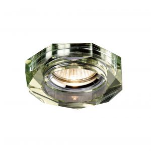 Diyas IL30823WI Crystal Downlight Deep Hexagonal Rim Only White Wine, IL30800 Required To Complete The Item