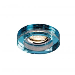 Diyas IL30831AQ Crystal Bubble Downlight Round Rim Only Aqua, IL30800 Required To Complete The Item
