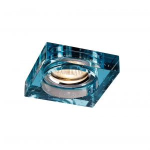 Diyas IL30832AQ Crystal Bubble Downlight Square Rim Only Aqua, IL30800 Required To Complete The Item