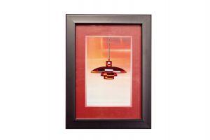 Diyas Home IL70510 (DH) Decor Red Pendant,  Black Frame ,  Red Crystal