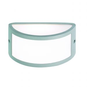 Middleton Single Outdoor Wall Light Textured Grey/Opal Finish