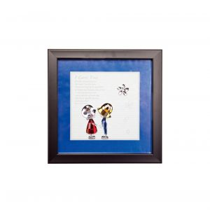 Diyas Home IL70505 (DH) Emotion Boy And Girl, Black Frame, Amber, Blue, Clear, Red Crystal