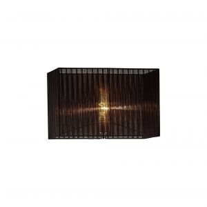 Diyas ILS31727 Florence Rectangle Organza Shade,  400x210x260mm, Black, For Floor Lamp