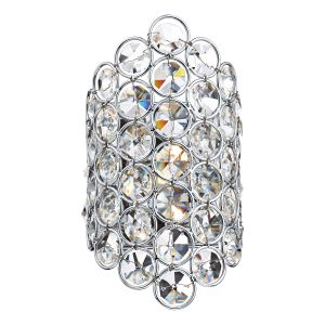 DAR FRO0750 Frost Single Wall Light Crystal/Polished Chrome Finish Switched