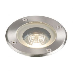 Saxby GH98042V Pillar Single 50W Outdoor Walkover Ground Light Stainless Steel Finish